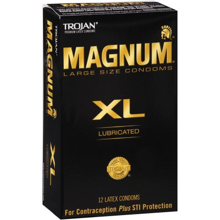 Trojan Magnum Lubricated Latex Condoms - 12 CT