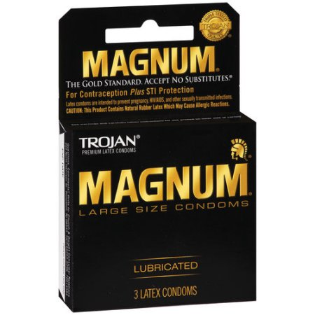 Trojan Magnum Large Size Lubricated Condoms - 3 CT