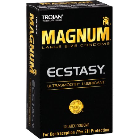 Trojan Magnum Ecstasy Premium Latex Condoms - 10 CT