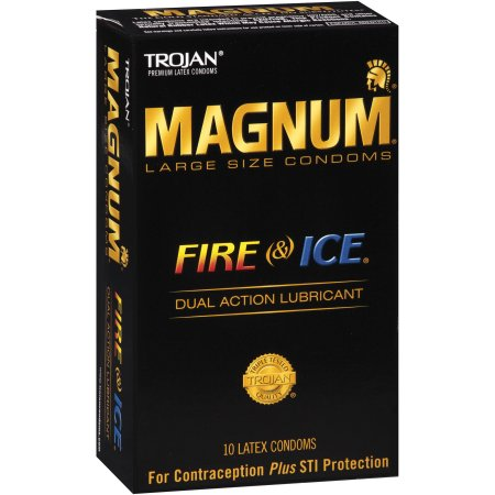 Trojan Magnum Fire & Ice Latex Condoms - 10 CT