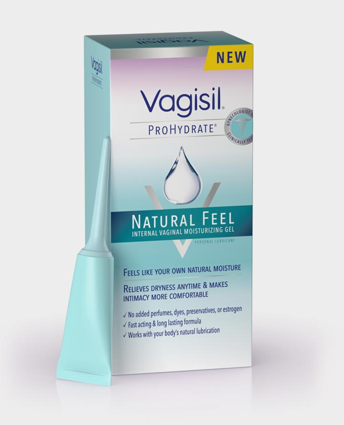 Vagisil ProHydrate Natural Feel - 8 Pre-Filled Disposible Applicators; Net wt. 0.21 oz (5.9 g) each