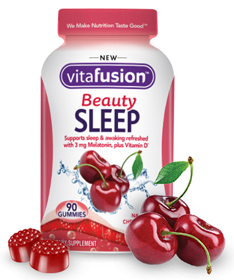 VitaFusion Beauty Sleep Natural Cherry-Vanilla Flavor - 90 Gummies