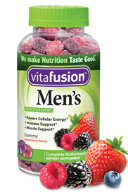 VitaFusion Men's Adult Vitamins Natural Berry Flavors - 150 gummies