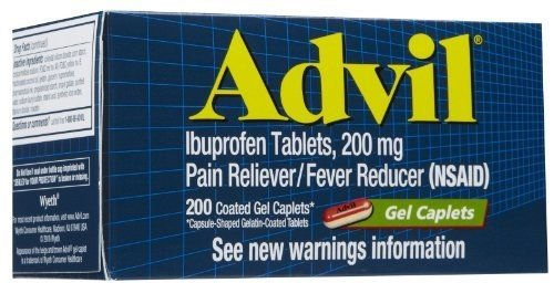 Advil Ibuprofen 200 mg - 200 Coated Gel Caplets