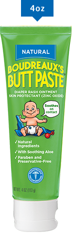All Natural Boudreaux\'s Butt Paste Original Diaper Rash Ointment - 4 Oz (113 g)