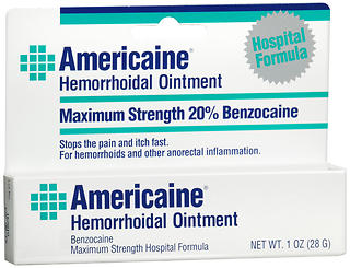 Americaine Hemorrhoidal Ointment Maximum Strength Benzocaine - 1 oz (28 g)
