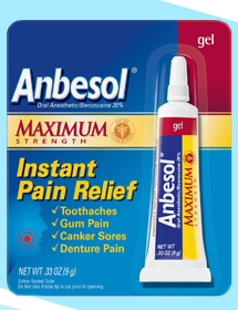 Anbesol Instant Pain Relief Gel - 0.33 Oz (9 g)