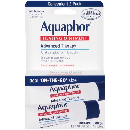Aquaphor, Healing Ointment, Advanced Therapy - Contains: Two (2) 10g Tubes (Net WT 0.35 oz)