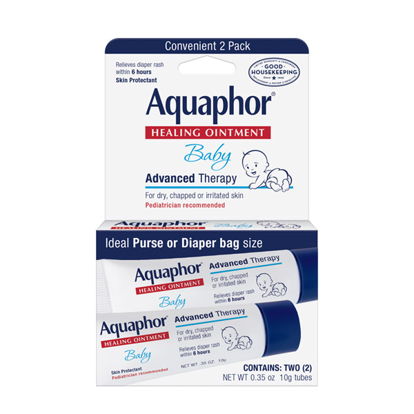 Aquaphor, Baby, Healing Ointment, Advanced Therapy - Contains: Two (2) 10g Tubes (Net WT 0.35 oz)