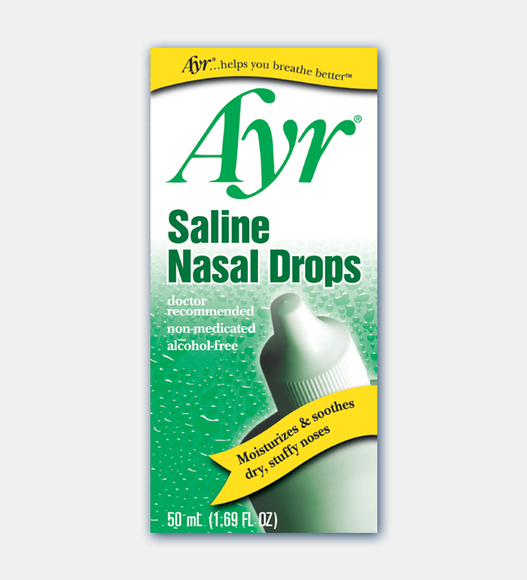 Ayr Saline Nasal Drops - 1.69 Fl oz (50 mL)