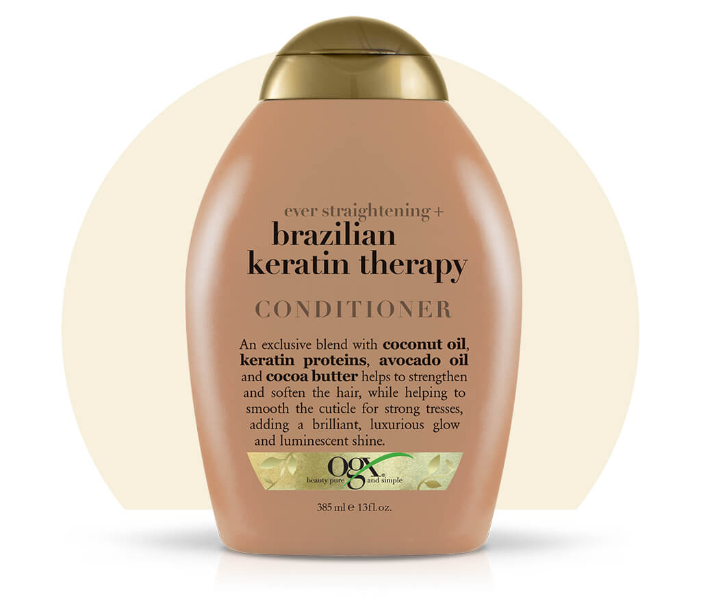 Organix (OGX) Ever Straightening Brazilian Keratin Therapy Conditioner - 13 Fl Oz (385 mL)