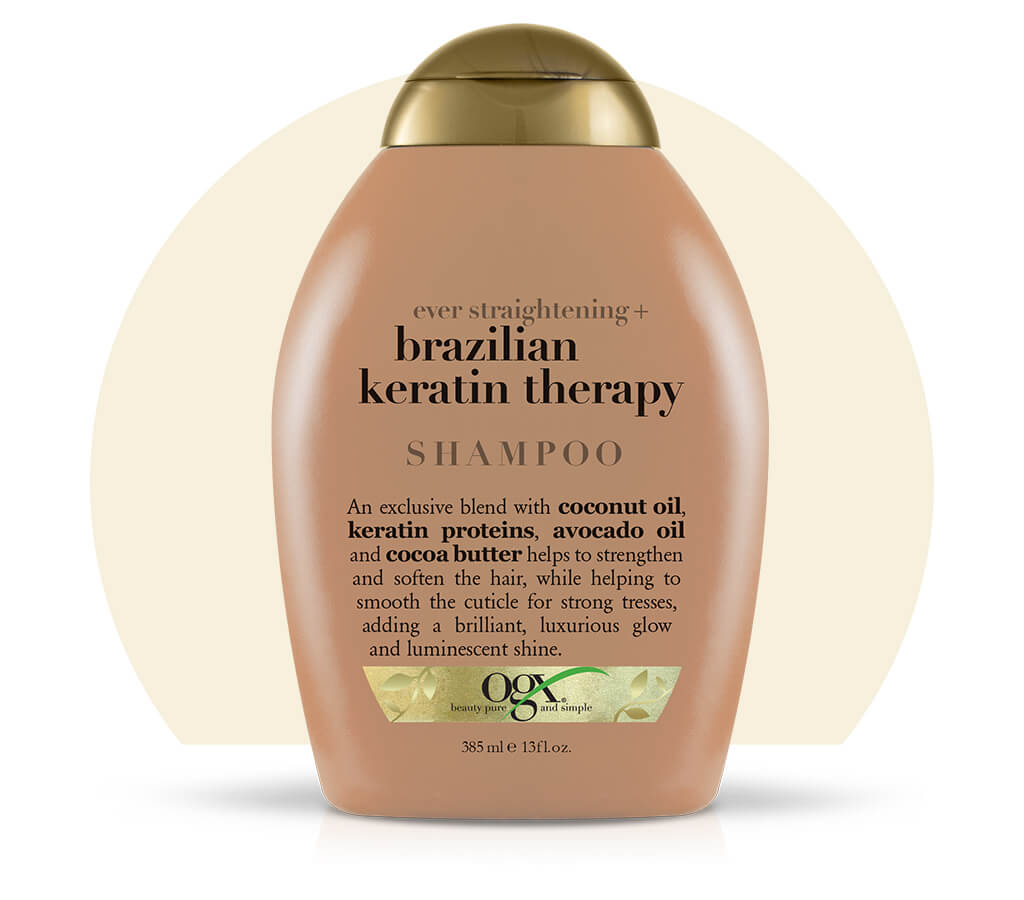 Organix (OGX) Ever Straightening Brazilian Keratin Therapy Shampoo - 13 Fl Oz (385 mL)