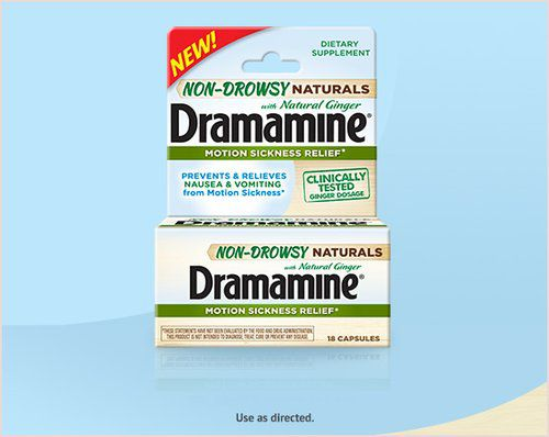 Dramamime Non-Drowsy Naturals Motion Sickness Relief - 18 capsules