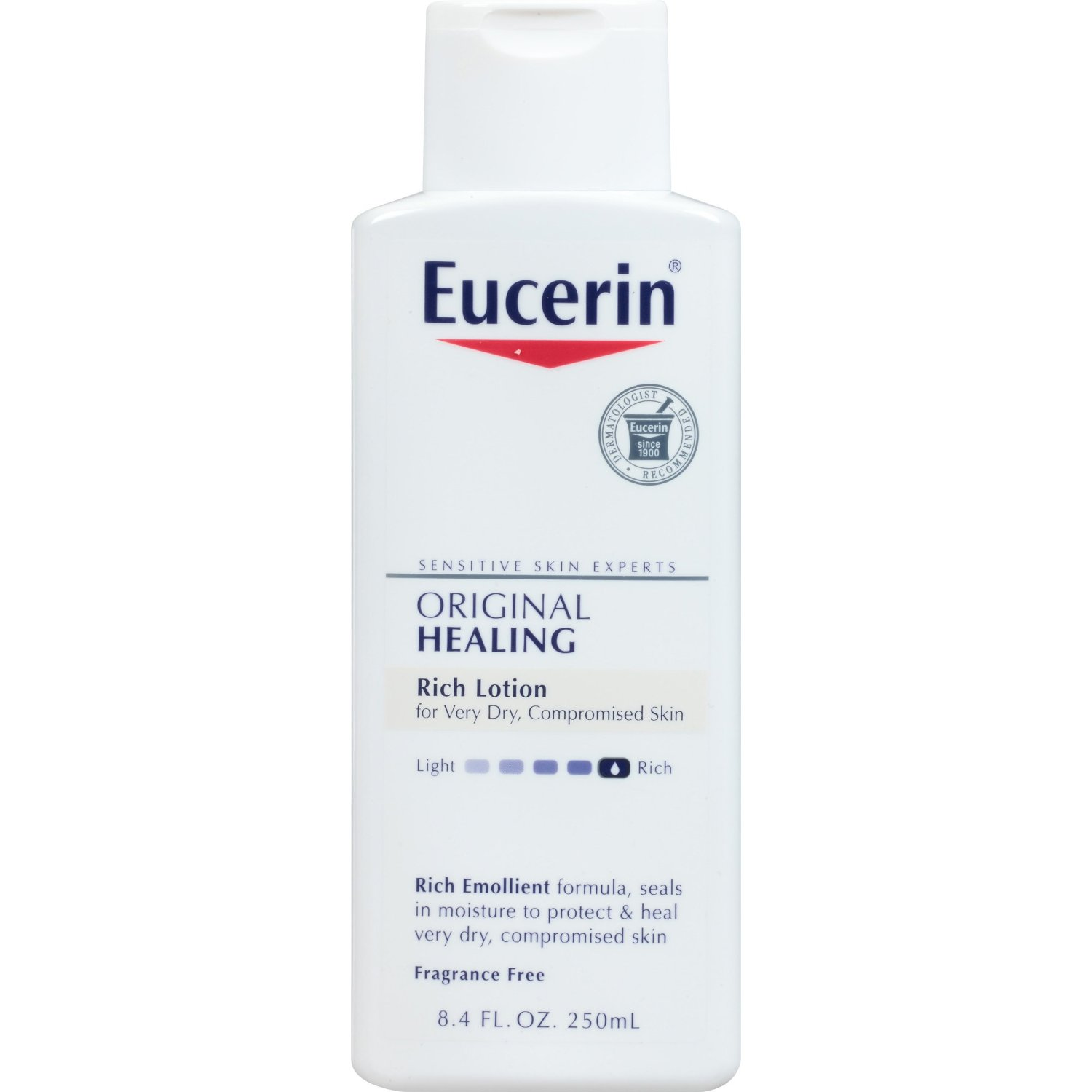 Eucerin Original Healing, Rich Lotion, Fragrance Free - 8.4 oz