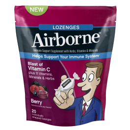Airborne Blast Of Vitamin C Berry Flavor - 20 Individually Wrapped Lozenges