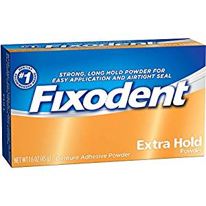 Fixodent Extra Hold Denture Adhesive Powder - 1.6 Oz (45 g)