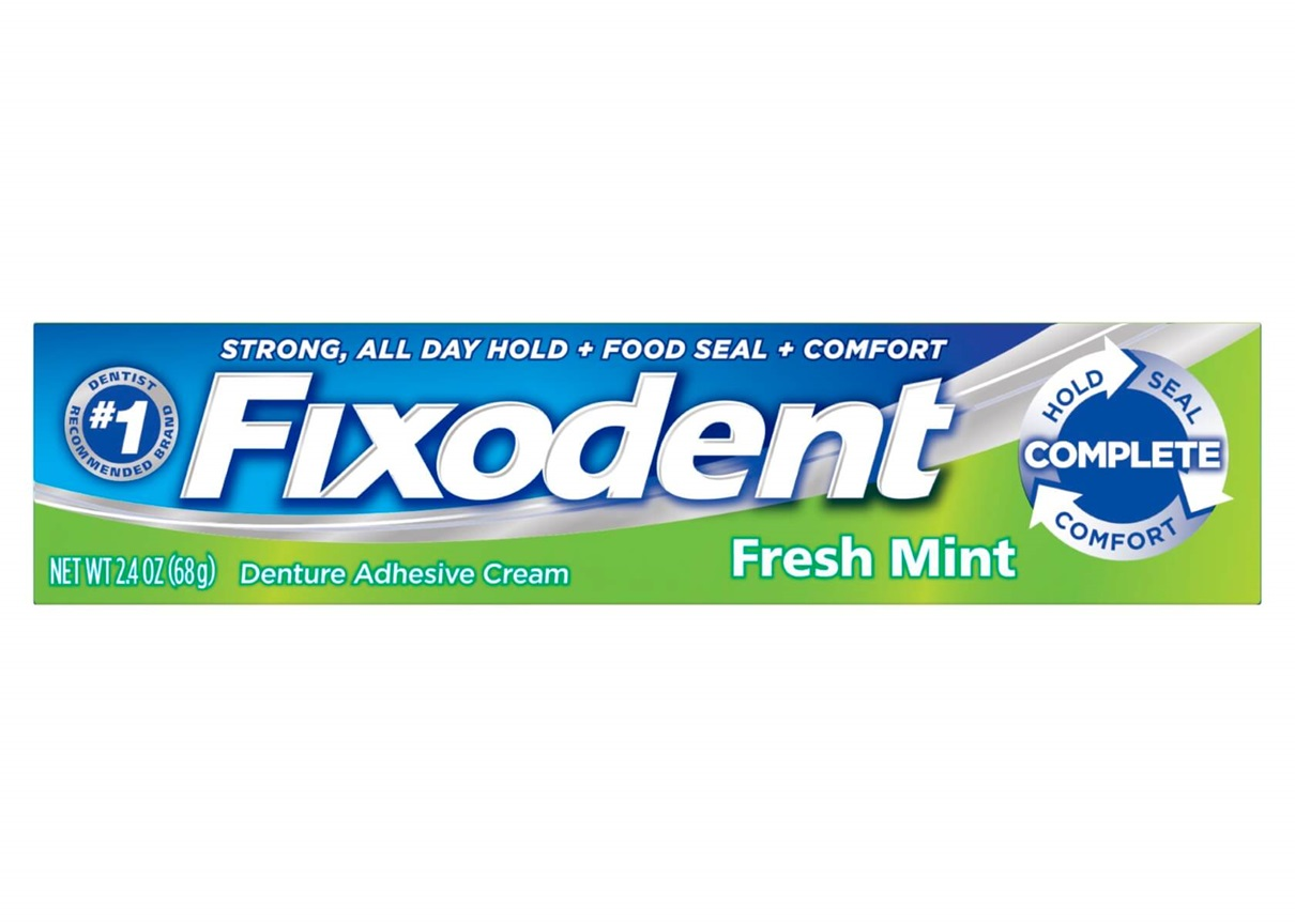 Fixodent Complete Denture Adhesive Cream Fresh Mint - 2.4 Oz (68 g)