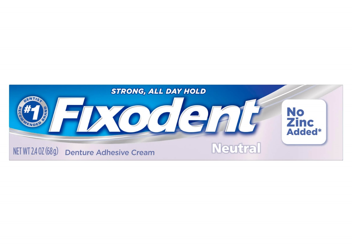Fixodent Neutral No Zinc Added Denture Adhesive Cream - 2.4 Oz (68 g)