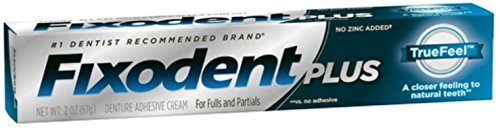 Fixodent Plus Flavor & Color Free TrueFeel Denture Adhesive Cream - 2 Oz (57 g)