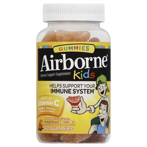 Airborne Kids Immune Support Supplement Blast of Vitamin C - 42 Gummies