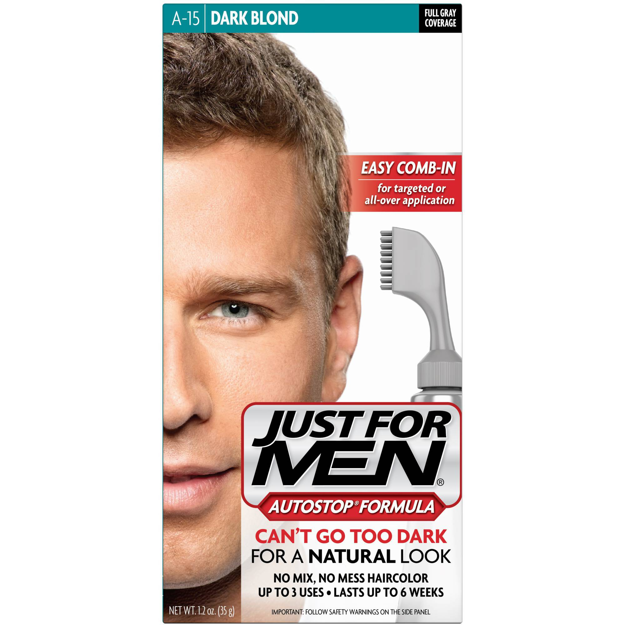 Just For Men AutoStop Formula, Men's Hair Color, Dark Blond (A-15)