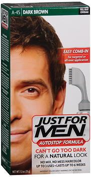 Just For Men AutoStop Formula, Men's Hair Color, Dark Brown (A-45)
