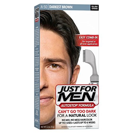 Just For Men AutoStop Formula, Men's Hair Color, Darkest Brown (A-50)
