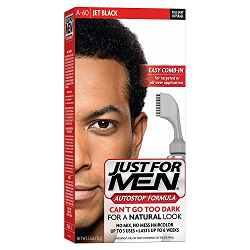 Just For Men AutoStop Formula, Men's Hair Color, Jet Black (A-60)