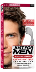 Just For Men AutoStop Formula, Men's Hair Color, Medium Brown (A-35)