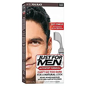 Just For Men AutoStop Formula, Men's Hair Color, Real Black (A-55)