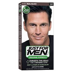 Just For Men, Original Formula, Men's Hair Color, Real Black (H-55)
