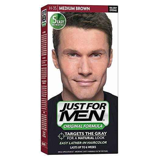 Just For Men, Original Formula, Men's Hair Color, Medium Brown (H-35)