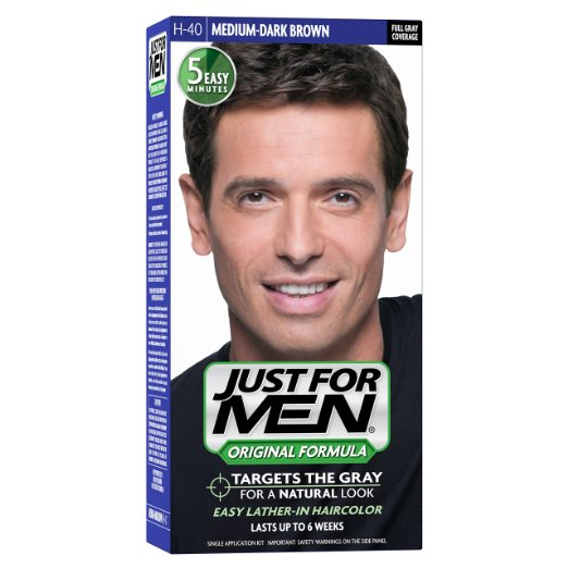 Just For Men, Original Formula, Men's Hair Color, Medium-Dark Brown (H-40)