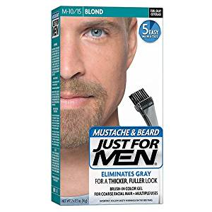 Just For Men Mustache & Beard Brush-In Color Gel, Blond (M-10/15)