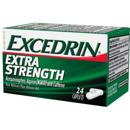 Excedrin Extra Strength (Acetaminophen, Aspirin and Caffeine) Pain Reliever - 24 Caplets