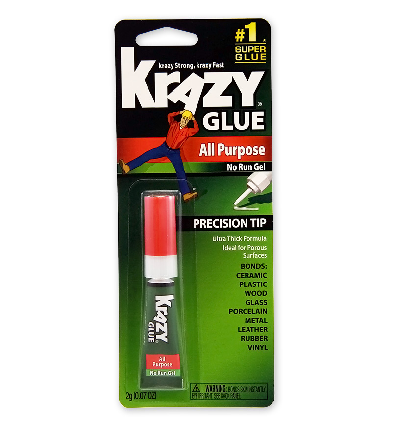 Krazy Glue All Purpose No Run Gel Precision Tip - 2g (0.07 Oz)