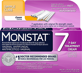 Monistat 7-Day Treatment Vaginal Antifungal Cream - 1.59 oz (45 g) Tube