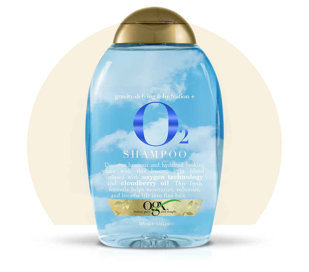 Organix (OGX) Gravity-Defying & Hydration+ O2 Shampoo - 13 Fl Oz (385 mL)