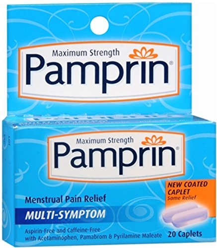 Pamprin Maximum Strength Multi-Symptom Menstrual Pain Relief - 20 Caplets