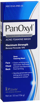 PanOxyl 10% Benzoyl Peroxide Acne Foaming Wash - 5.5 oz