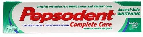 Pepsodent Complete Care Enamel-Safe Whitening Toothpaste - 5.5 Oz (156 g)