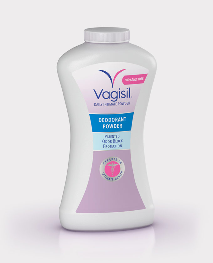Vagisil Deodorant Powder Patented Odor Block Protection - 8 Oz (226 mL)
