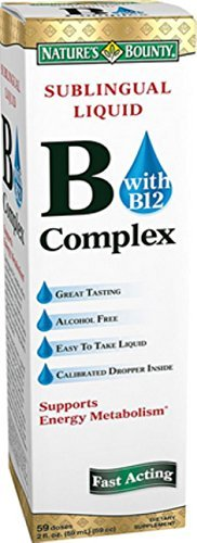 Nature's Bounty Sublingual Liquid B Complex - 59 Doses 2 Fl Oz (59 mL)