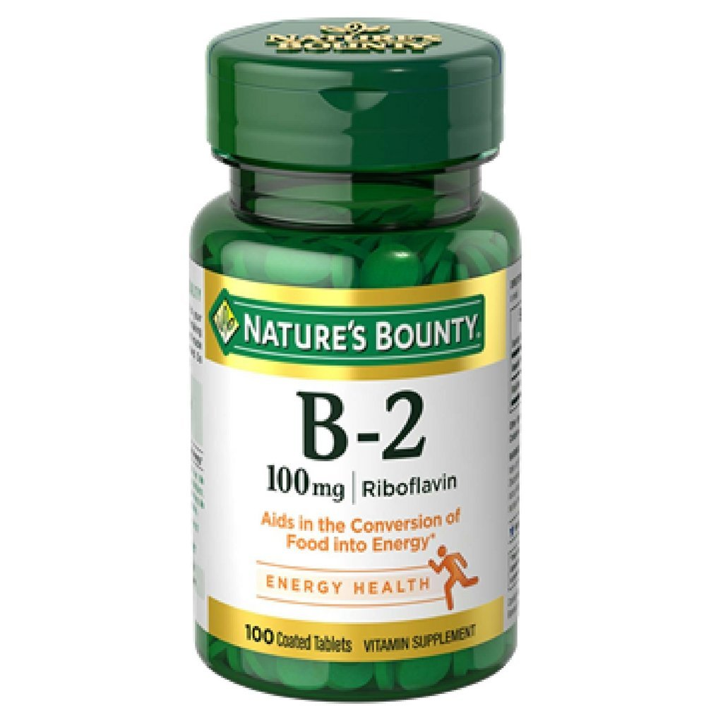 Nature's Bounty B-2 100 mg - 100 Coated Tablets