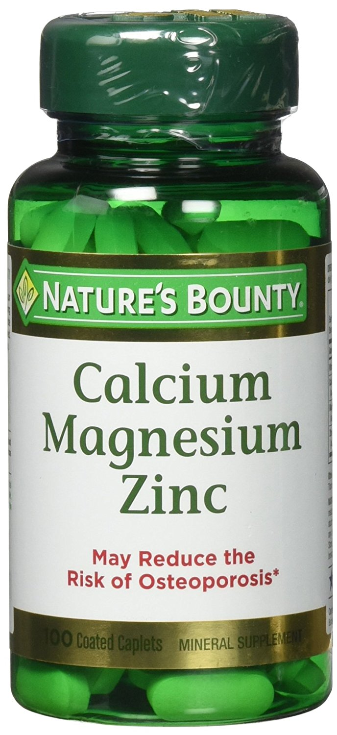 Nature's Bounty Calcium, Magnesium, Zinc w/ Vit D3 - 100 Coated Capsules