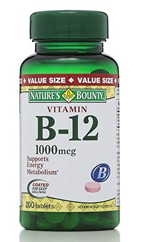 Nature's Bounty B-12 1000 mcg - 200 Coated Tablets