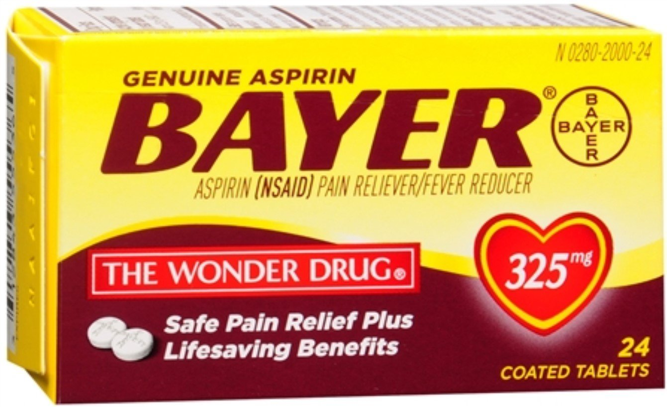 Bayer Aspirin (NSAID) 325 mg - 24 Coated Tablets