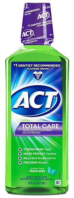 ACT Total Care Anticavity Fluoride Mouthwash - 18 Fl Oz (532 mL)