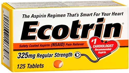Ecotrin 325 mg Regular Strength Safety Coated Aspirin (NSAID) - 125 Tablets