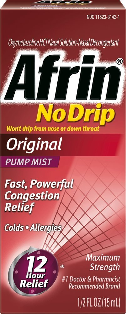 Afrin No Drip Original Pump Mist - 1/2 Fl Oz (15 mL)